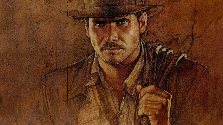 Illustration of Indiana Jones.