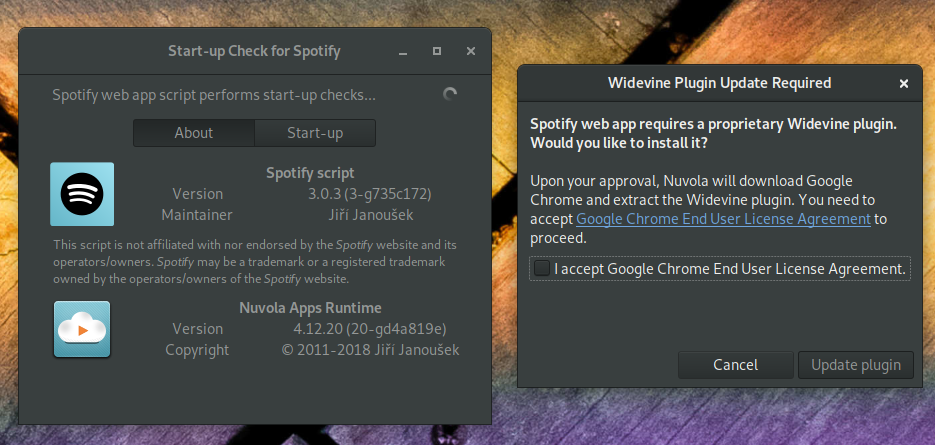 Nuvola Apps Runtime Fixes Issue with Spotify & Widevine