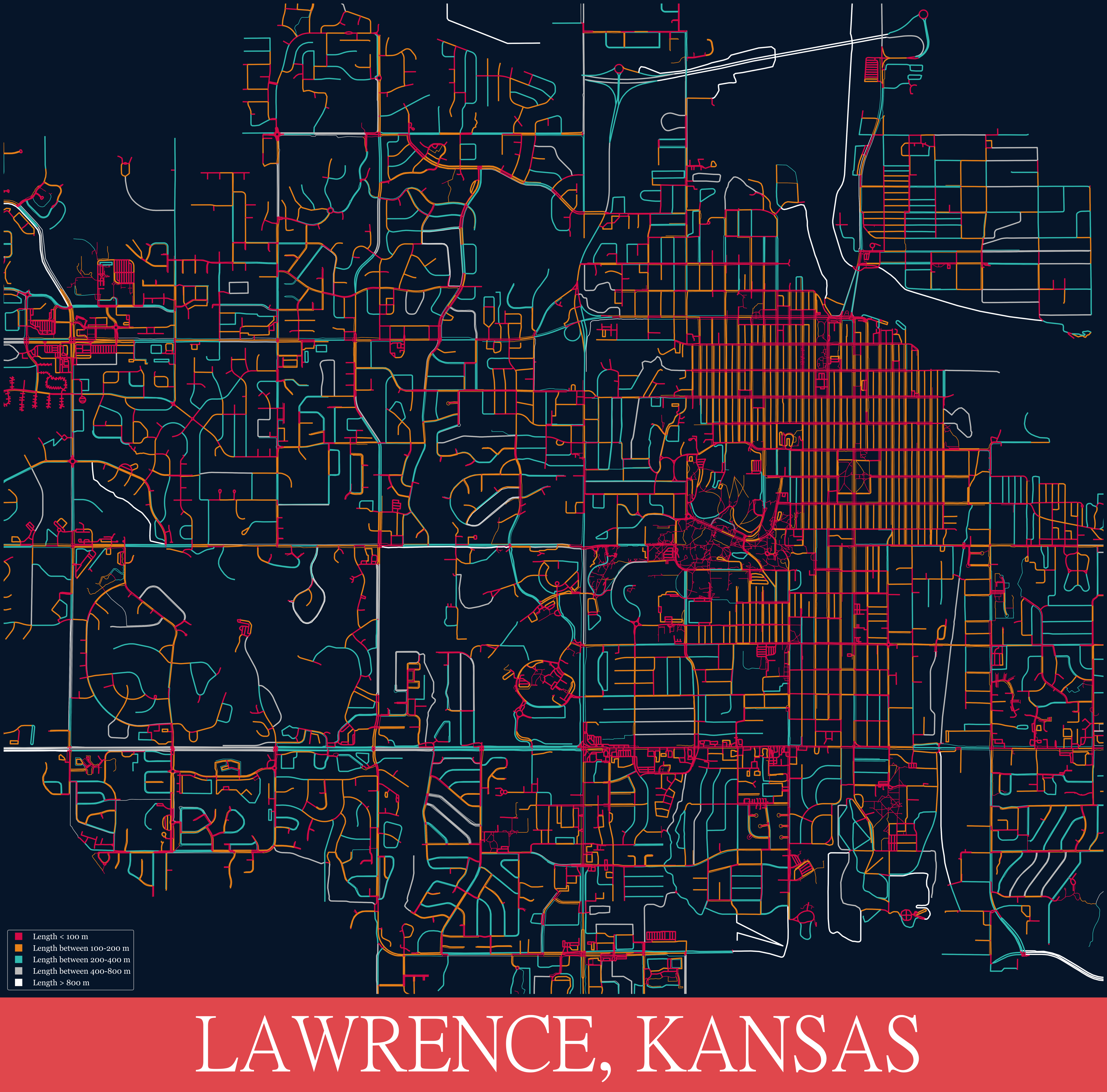 kansas speed limit map Making Artistic Maps With Python Rock Chalk Jayhawk By Frank kansas speed limit map