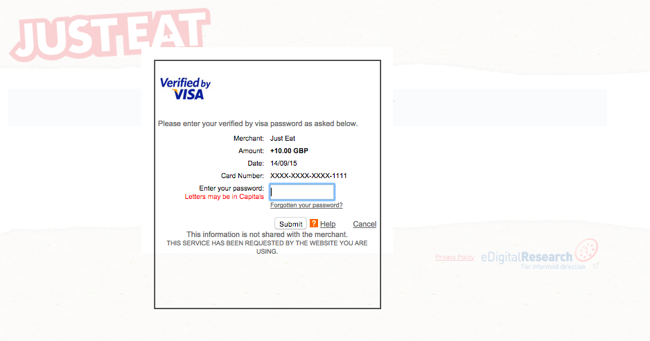 A brilliantly sophisticated phishing scam posing as Just Eat