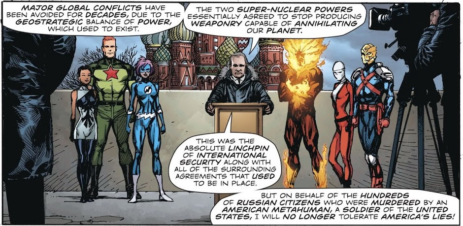 Putin assembles superhero teams. Subtle.