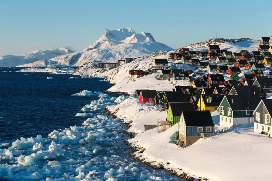 Greenland's capital city, Nuuk. Getty Images. Courtesy of Stephane Godin
