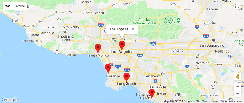 Integrating Google Maps API for Multiple Locations ... on map of us jack in the box locations, funny google map locations, google earth funny locations, map of the hobbit filming locations, map of google company locations,