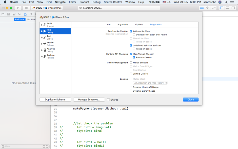 Finding Bugs Using Xcode Runtime Tools - codeburst