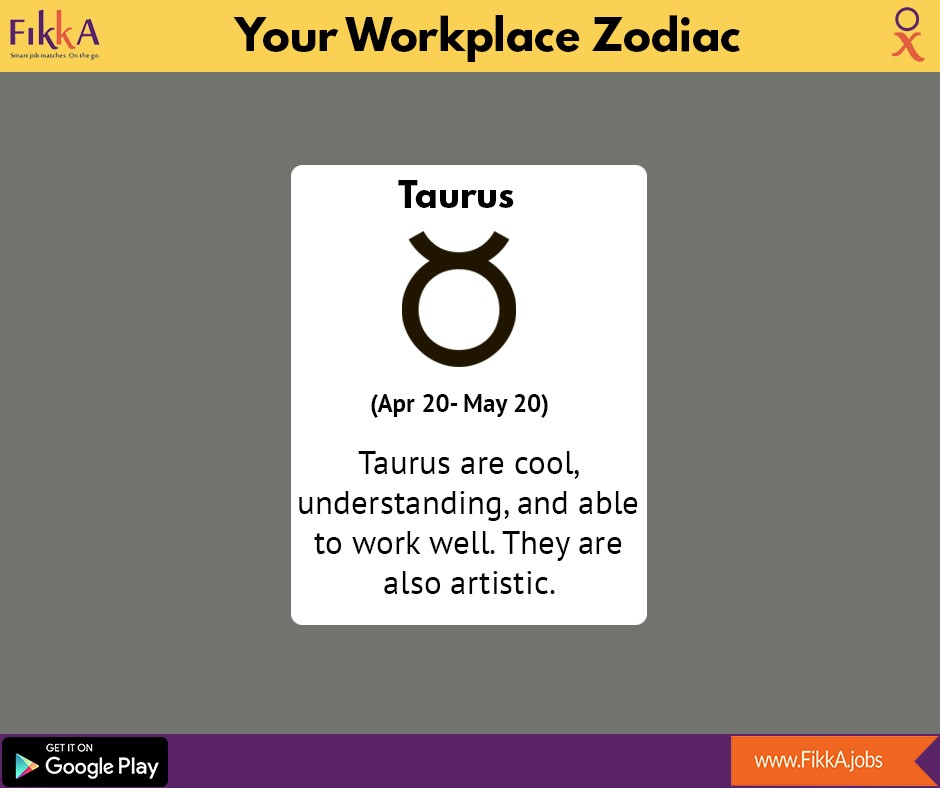 Your Workplace Zodiac! - FikkA jobs - Medium