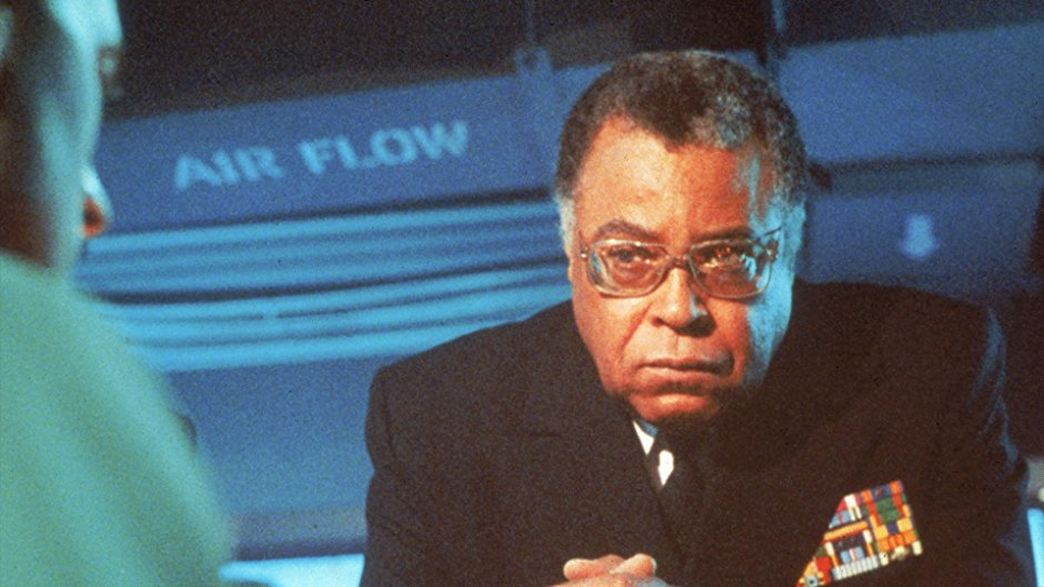 James Earl Jones scowling