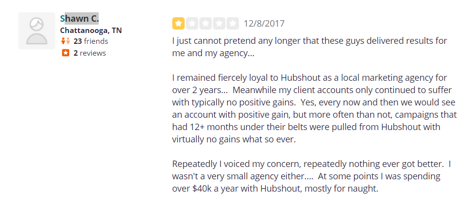 hubshout review