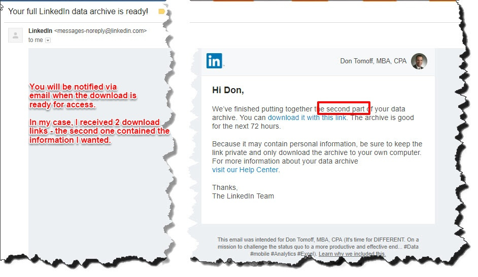 Download Your Linkedin History Don Tomoff Medium