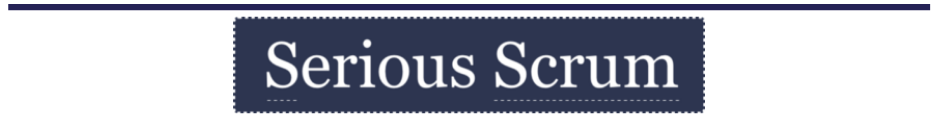 Logo Serious Scrum with link to Serious Scrum Slack channel