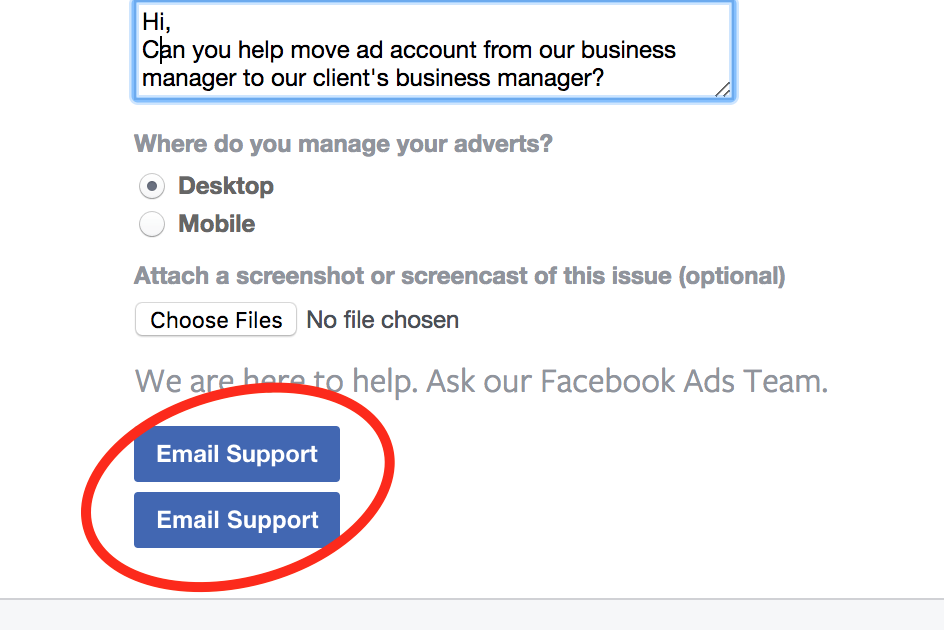 Transfer claimed Ad Account between Facebook Business Managers