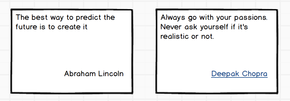 One quote with link to author, another without a link to author