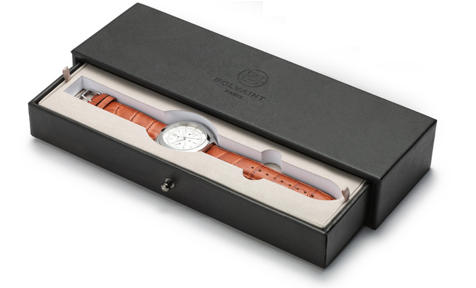 A beautiful watch in a shiny box
