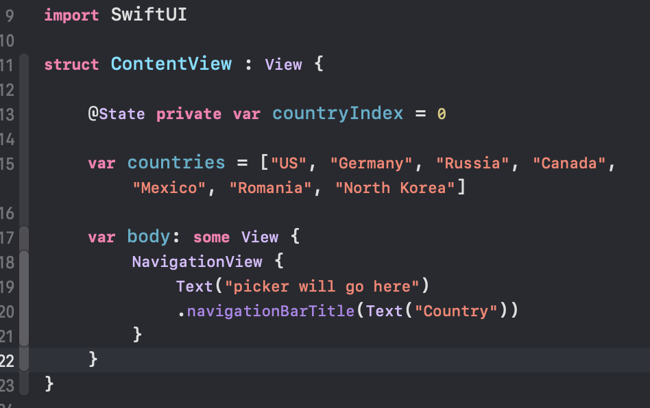 Pickers in SwiftUI with State & Form — How to use