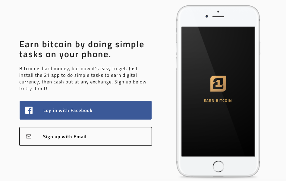 Earn Anywhere with the 21 App - The Control