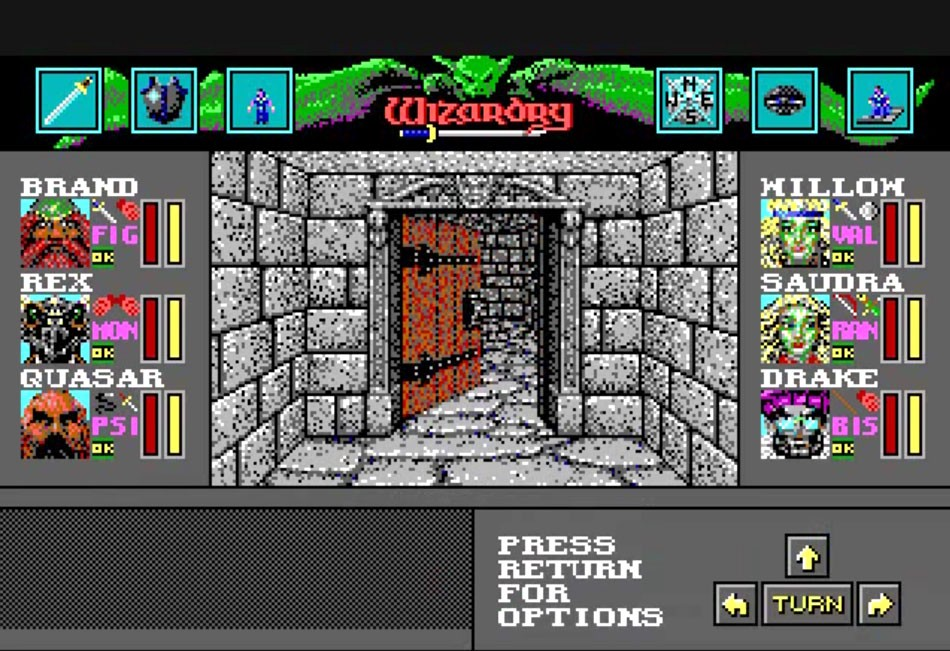 Retro Video Game: Wizardry 6: Bane of the Cosmic Forge.