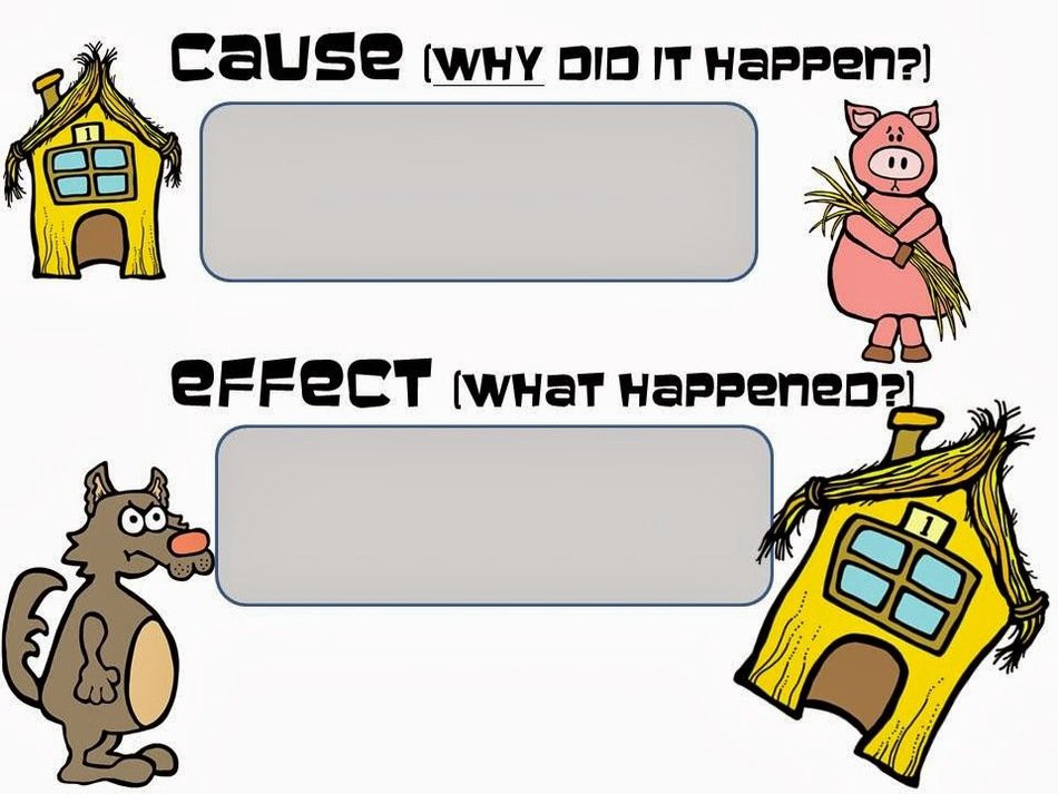 cause: why did it happen? effect: What happened?