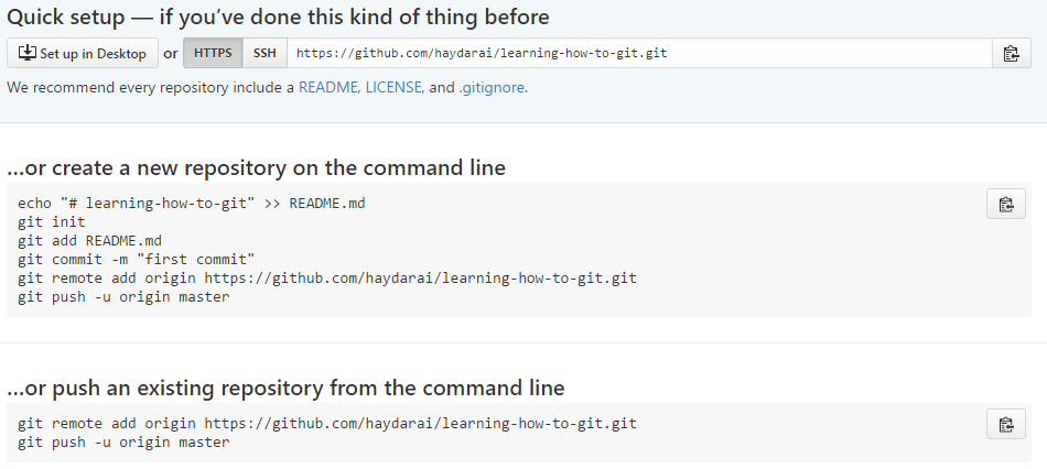 git push to remote