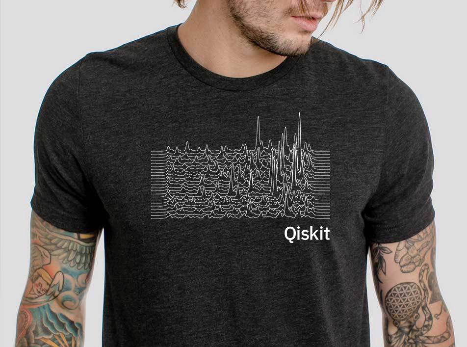 Rendering of the styled quantum amplitudes on a t-shirt.