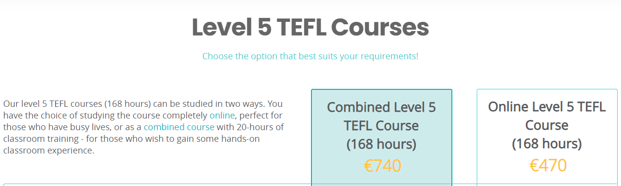 The TEFL Academy Pricing