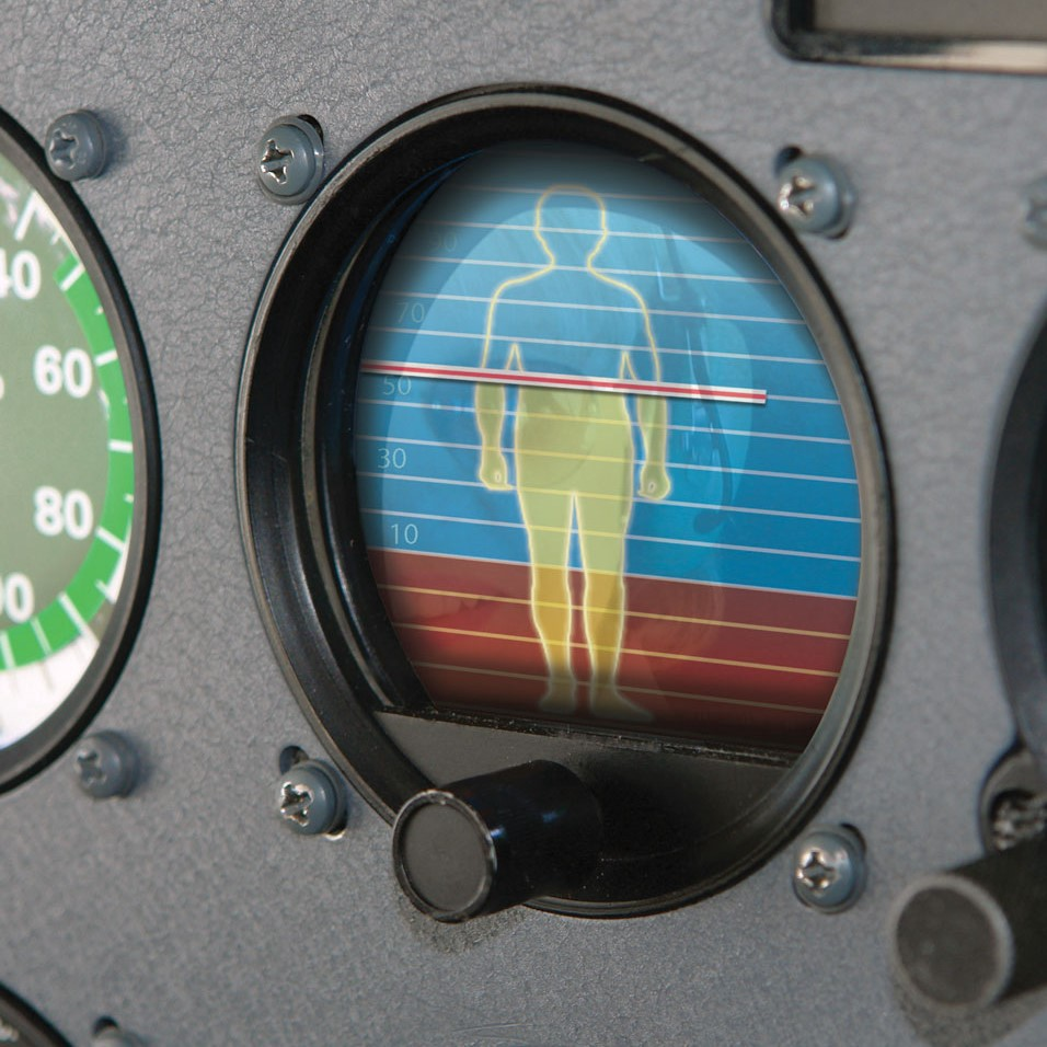 Photo illustration of a human attitude indicator.