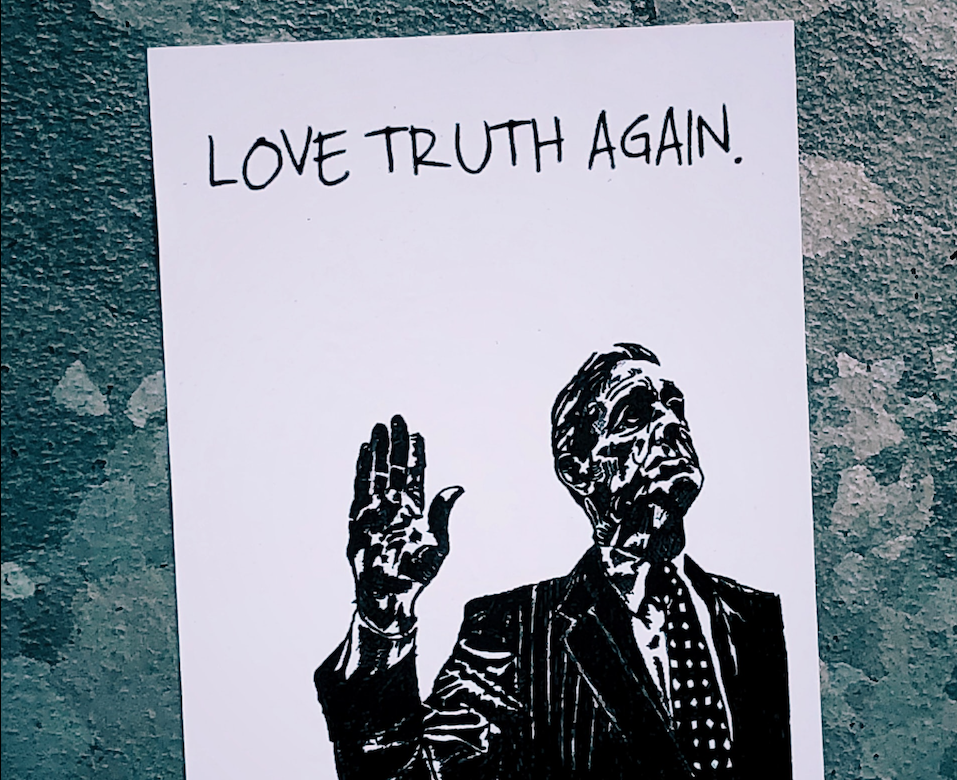 love truth again art poster