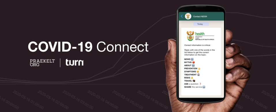 Over 1 million South Africans engage with the new SA National Department of Health COVID-19 Connect WhatsApp Helpline
