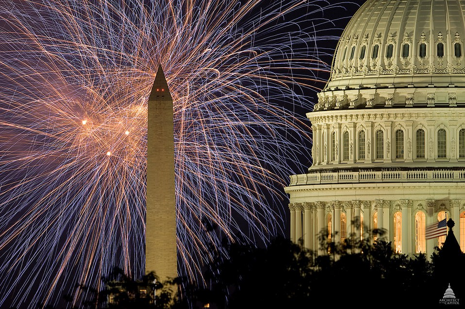 Fireworks over Washington D.C.
