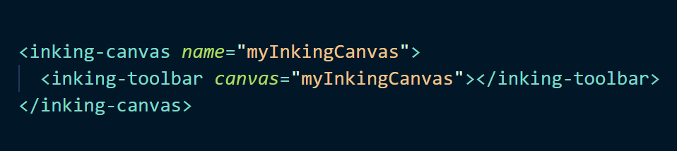 Some HTML for the inking component