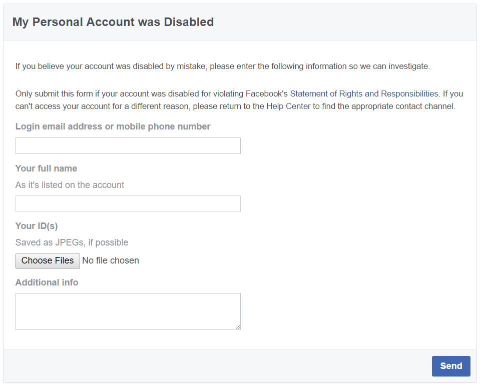 When Facebook Disables Your Account, What Are Your Options