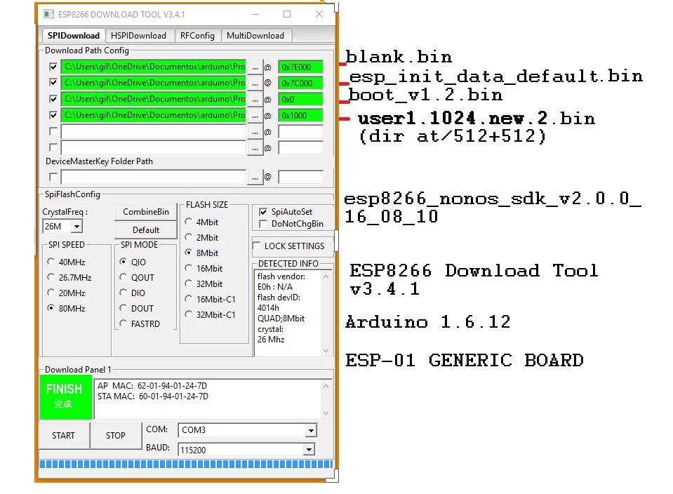 Flashing The Official ESPRESSIF Firmware in ESP8266 !!!