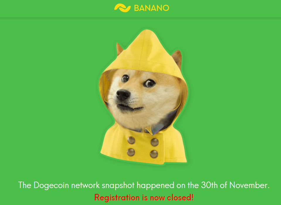 Banano Airdrop to Dogecoin Holders — A brief update