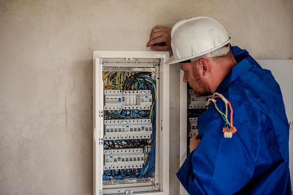 Electrical panel inspection working personnel