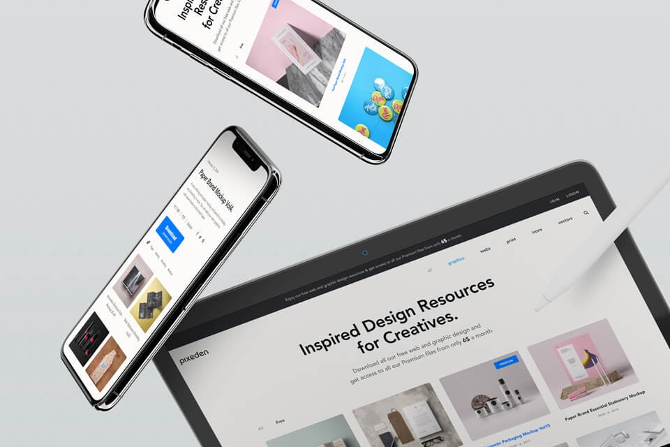 20 Best Free Ipad Mockups And Templates Psd Sketch In 2019