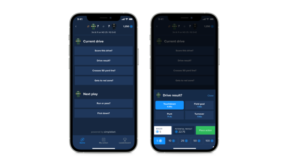 Simplebet used Flutter's web support to build highly interactive embeddable NFL & NBA betting experiences within Fanduel's existing suite of mobile apps.