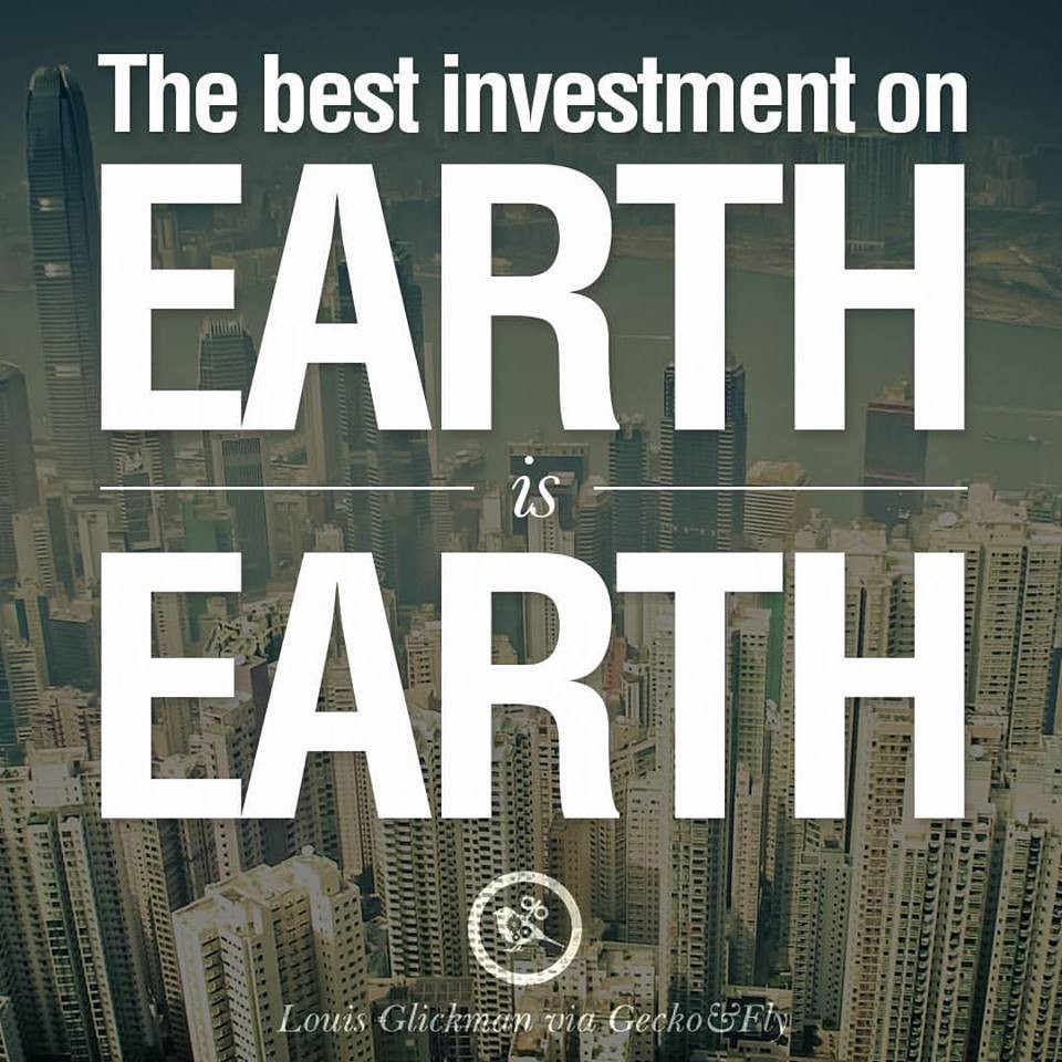 RealtyReturns: The best INVESTMENT in the EARTH is EARTH