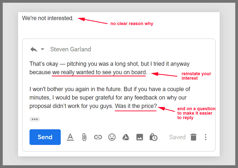 How to write a follow up email after you get rejected