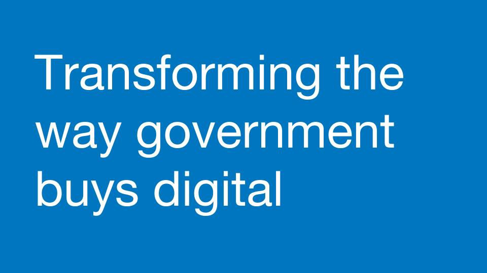 Is the Government Digital Marketplace Making Procurement