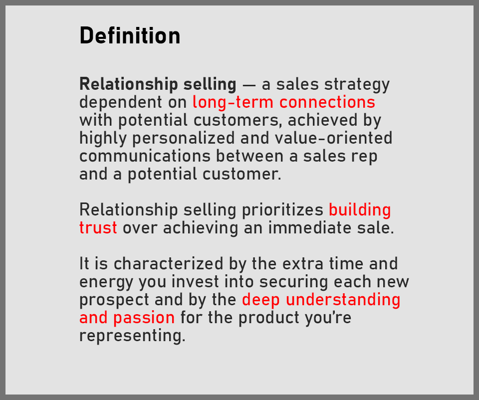 What is relationship selling and how to use it to drive more