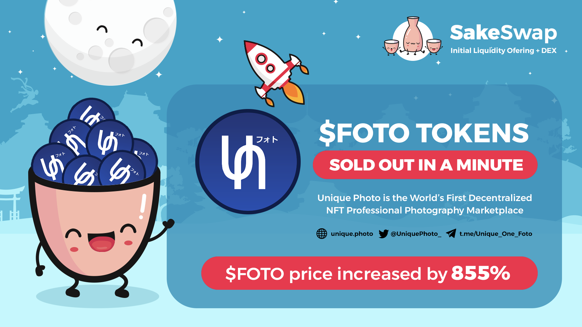 $FOTO ILO on Sakeswap