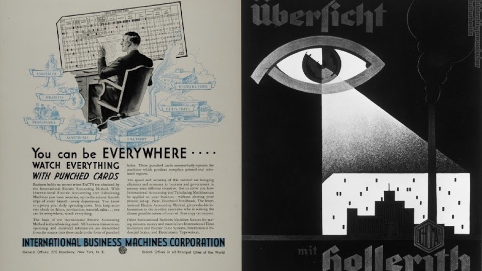 20th century Advertisements for punched card machines.