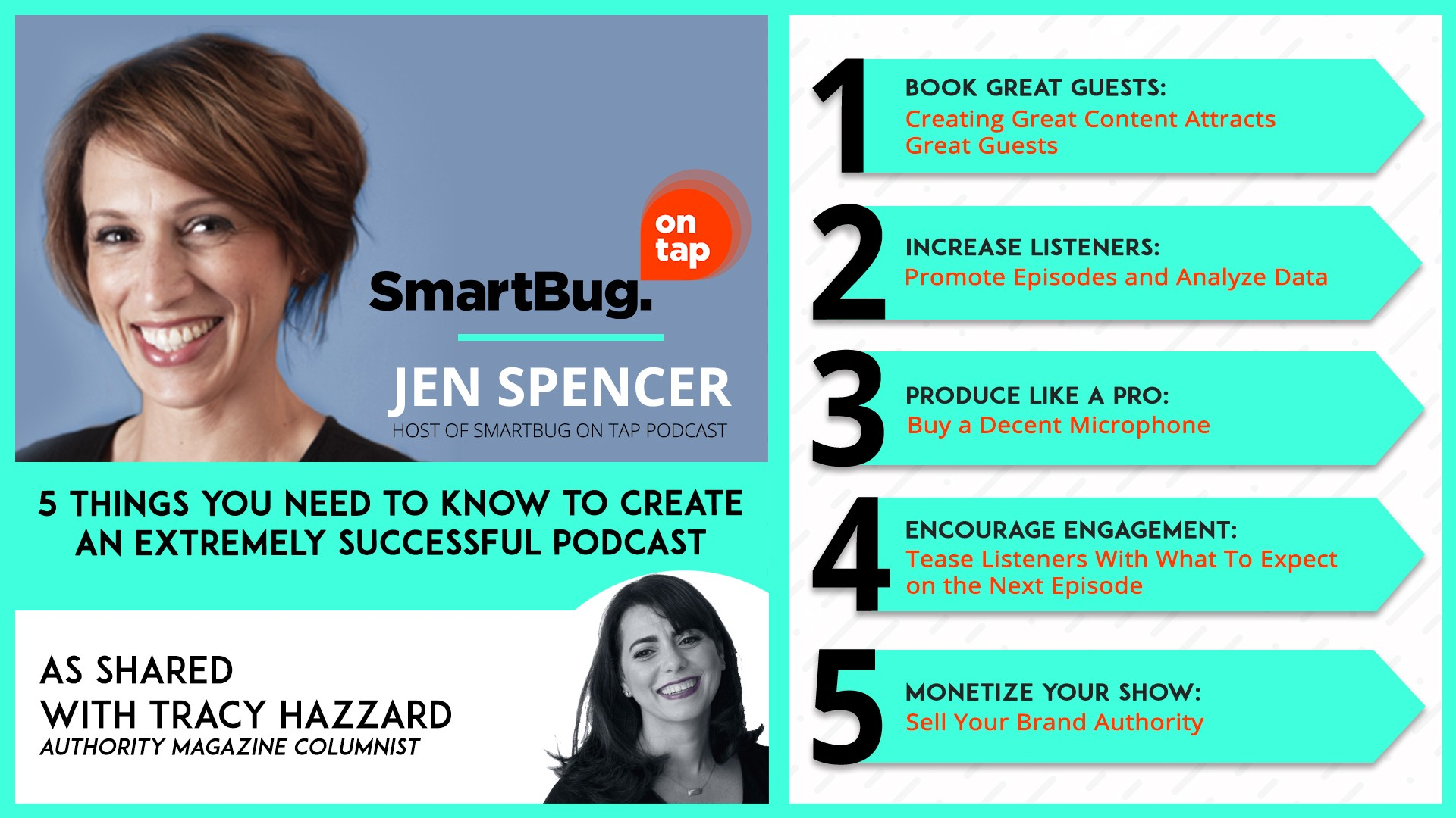Tracy Hazzard, Authority Magazine, Medium, BuzzFeed, Jen Spencer, SmartBug on Tap