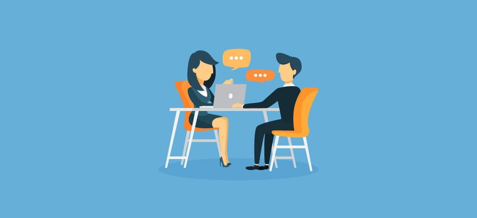 Two people in a coding interview