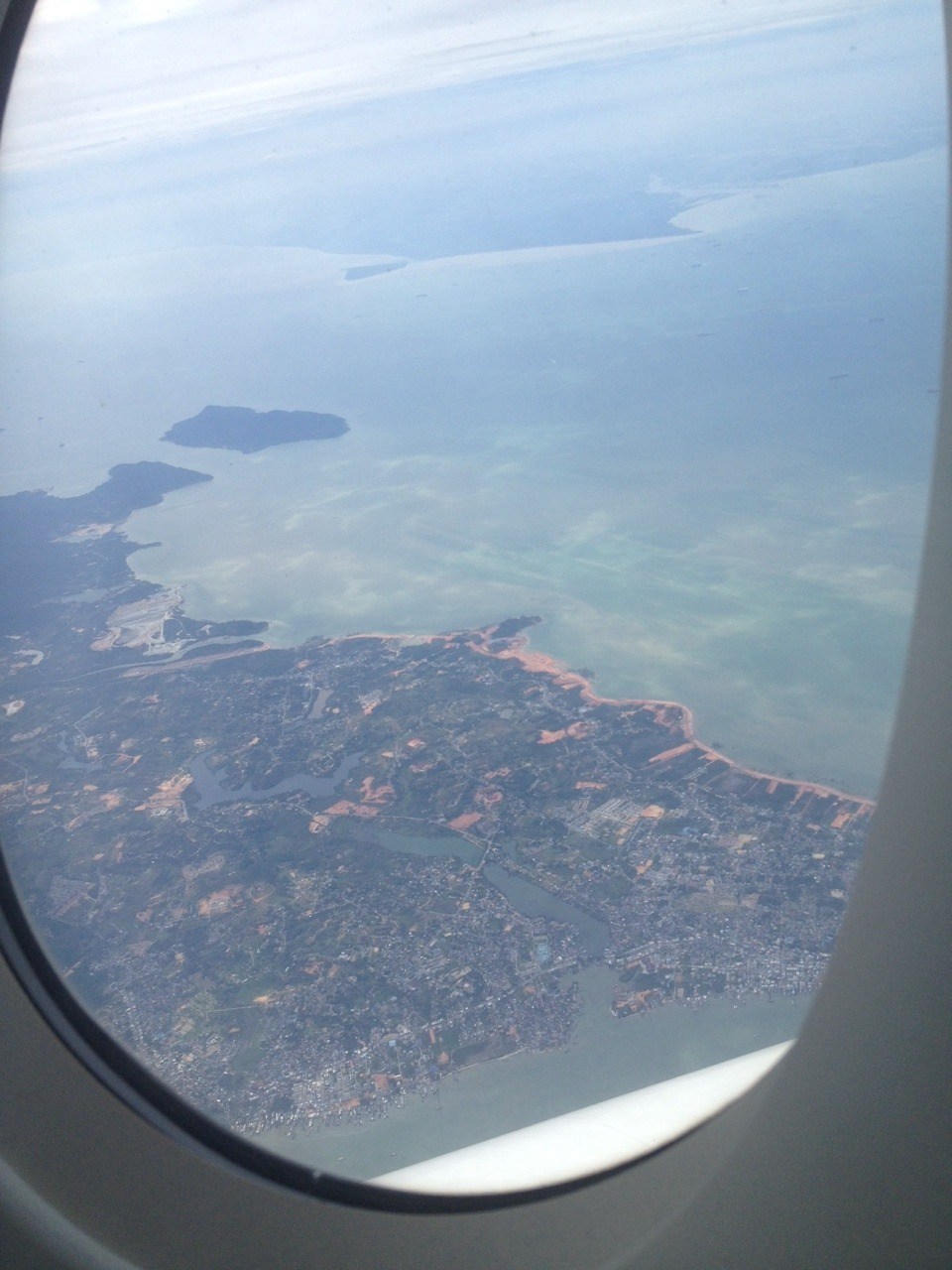 Singapore from the airplane. Jun 19th, 2014