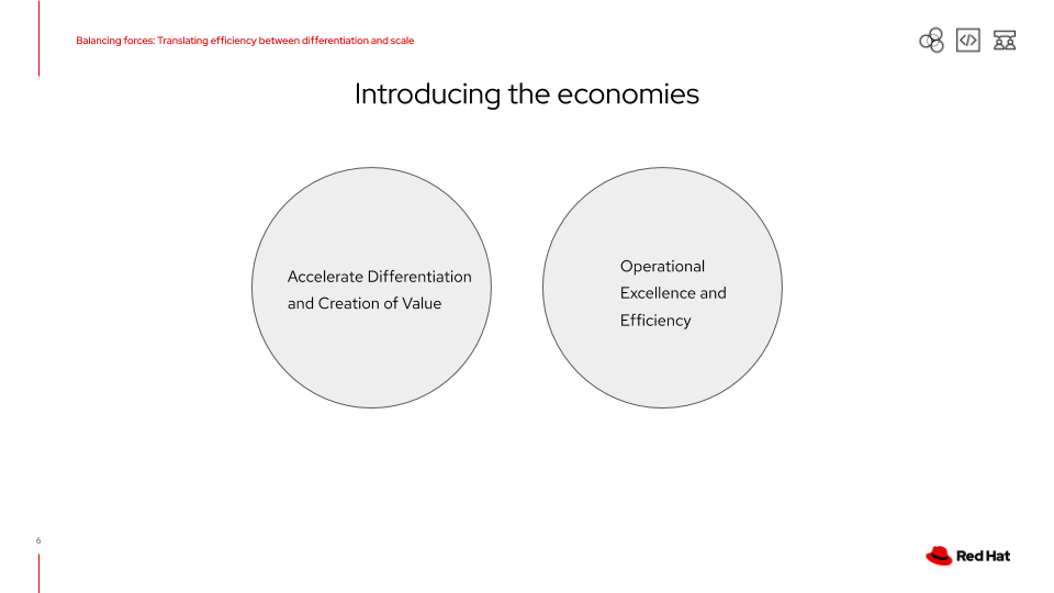 Introducing the economies of differentiation and scale at play in your organization.