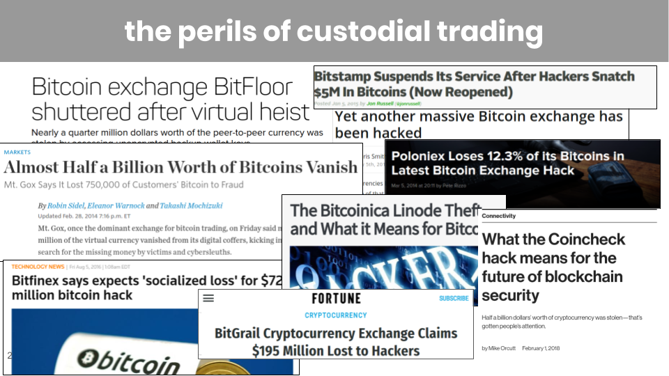 The perils of custodial trading & the promise of non