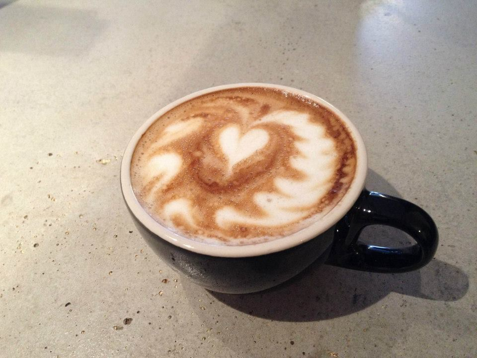 The best latte art Tae ever poured.