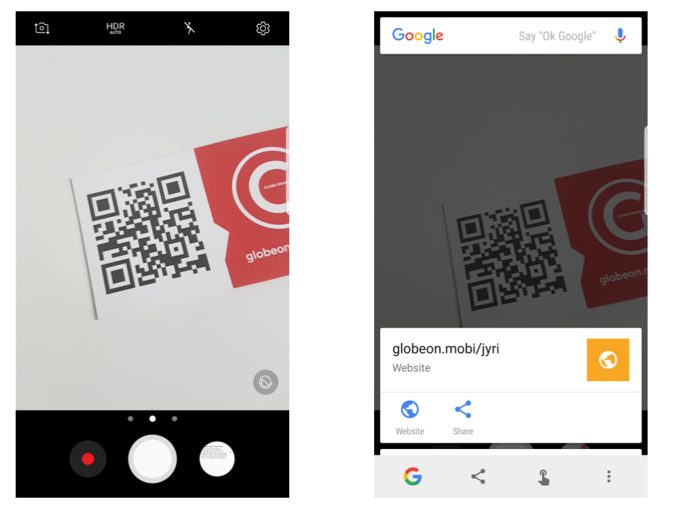 Simple way to scan QR-codes by Android without downloading