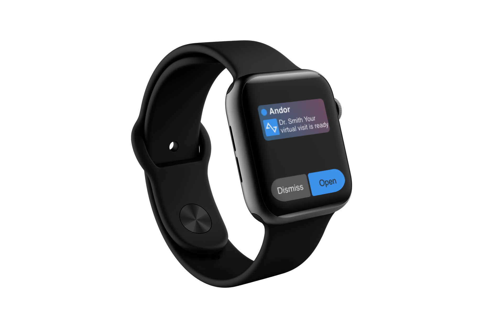 Smart watch with reminder of an upcoming doctor's appointment