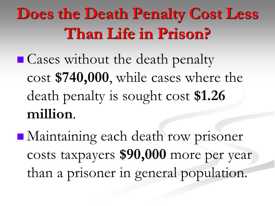 life imprisonment vs death penalty debate