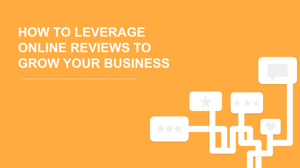 How to leverage online reviews to grow your business title image.